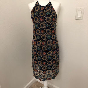 Urban Outftrs Ecote crochet and bead halter dress